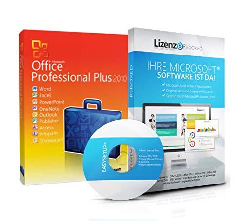 Original Microsoft® Office 2010 PRO (Professional Plus) Lizenzschlüssel + Lizenza ISO CD / DVD für 32 und 64 bit Deutsch inklusive Workstation 2016 für Office