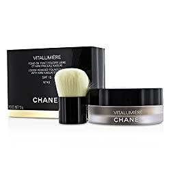 Chanel Vitalumiere Loose Powder Foundation SPF15 With Mini Kabuki Brush -  40 10g/0. 35oz