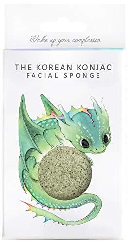 The Konjac Sponge Co éponge visage, vert - 1 unité