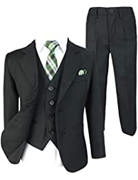 2c7b3715a Cocktail Italian Design All in One Boys Suits 5 or 6 Piece Formal Wedding  Complete Set