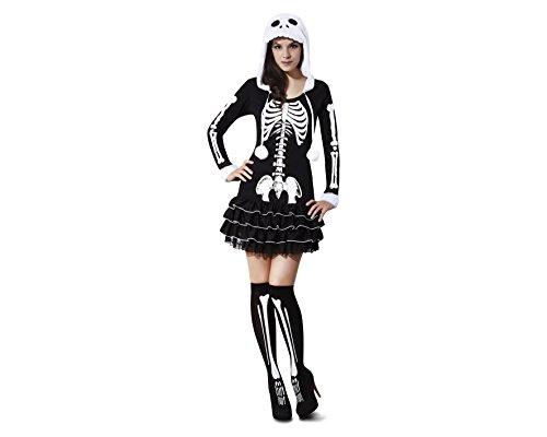 My Other Me - Disfraz de esqueleto descarada, para adultos, talla M-L (Viving Costumes MOM02272)