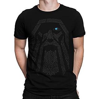 vanVerden Herren T-Shirt Odin Wikinger Wodan Valhalla Rising Walhalla Vikings, Größe:XL, Farbe:Schwarz/Normal