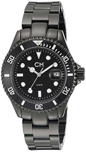 Carlo Monti Varese Men's Quartz Watch with Black Dial Analogue Display and Black Stainless Steel Plated Bracelet CM507-622
