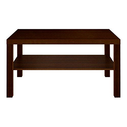 Furniture 247 Table Basse rectangulaire avec étagère de Rangement - Chêne Noir