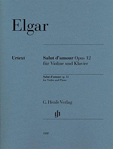 Salut d'amour op. 12 für Violine und Klavier
