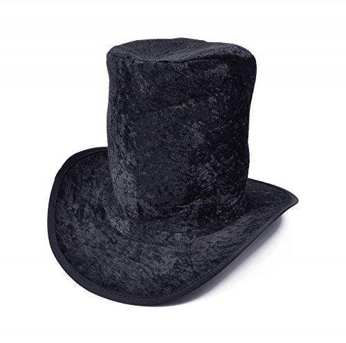 Überdimensionaler Zylinder Samt schwarz Rocker Slash Geister Bräutigam (Kostüm Slash Hut)