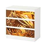 Set Möbelaufkleber für Ikea Kommode MALM 3 Fächer/Schubladen Weinbrand Glas gold Wein abstrakt Aufkleber Möbelfolie sticker (Ohne Möbel) Folie 25C588, Kommode 3 Fächer:Kommode 3 Fächer