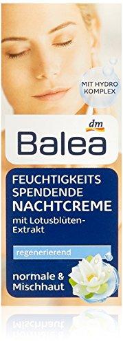 Balea Feuchtigkeitsspendende Nachtcreme, 3er Pack(3 x 50 ml)