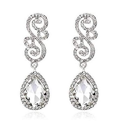 hetischer Diamant Ohrringe Ohrringe Tropfen Damen Klassische Modeschmuck Weiß/Wein Für Hochzeit Tägliche Zeremonie Maskerade Verlobungsfeier Prom @ White_One Größe ()