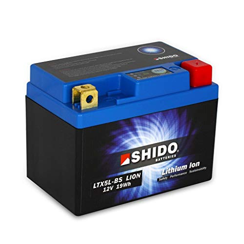 Batterie 12V 1,6AH(4AH) YTX5L-BS Lithium-Ionen Shido 50412 Spin GE50 06-09