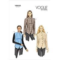 Vogue Patterns B5650 - Cartamodello per giacca e gilet da donna, varie taglie possibili, colore bianco