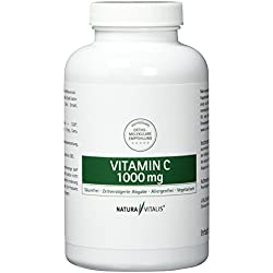 Natura Vitalis Vitamin C 1000 mg - Hochdosiert, 200 Presslinge
