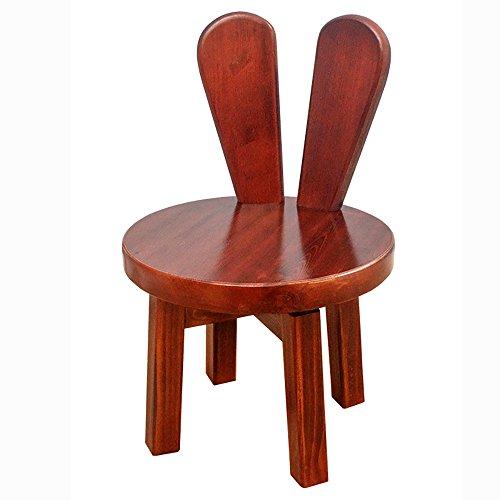 ZXQZ Tabouret en Bois Solide créatif/Simple Chaise de Salon/Chaise d'enfants de ménage de Dossier 25 * 46cm Repose-Pieds de Stockage (Couleur : B)
