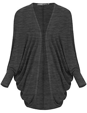Damen Cardigan Langarm Strickjacke Flügel-Hülse Mantel Oberbekleidung