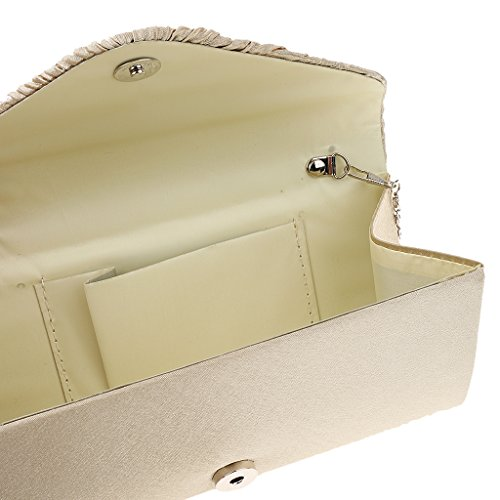 Gazechimp Frauen Umschläge Clutch Abendtasche Handtasche Umhaengetasche Beige