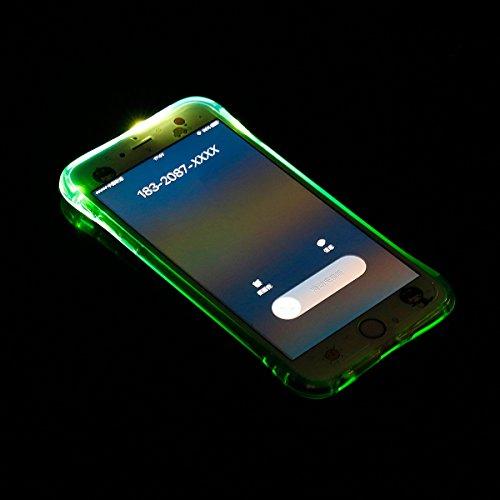 Ukayfe Custodia UltraSlim per iPhone 6 6S 4.7 ,iPhone 6 6S 4.7 Cover Case Morbida Soft Trasparente e Cristallo Protettiva Custodia con Marche Popolari Confine Resistente ai Graffi Anti Scivolo Case in Verde 2#