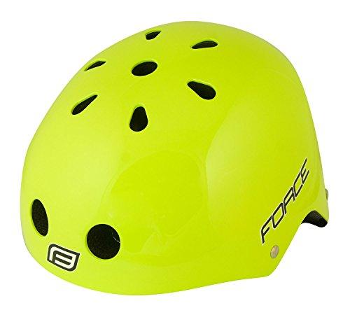 Force BMX Helm, Fahrradhelm, Skaterhelm, verschiedene Farben (neongrün, L-XL (58-61 cm))