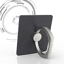 Anillo apretón soporte para movil kindle iPad mini YOSH® para móviles iPhone 6 6s plus 5 5s Samsung Galaxy S6 S7 edge Huawei P8 P9 LG G5 G4 V10 HTC Nexus Tablets ✪Garantía De Por Vida✪(Gris oscuro)