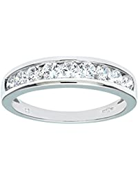 Citerna 9 ct White Gold Eternity Ring with Channel Set Cubic Zirconia rPIy6