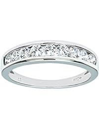 Citerna 9ct White Gold Ladies Stone Set Eternity Ring