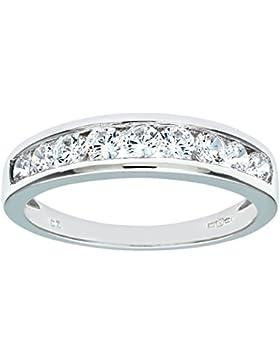 Citerna Damen-Ring 375 Weißgold Zirkonia 9 Karat DIV 125W(Q)-p