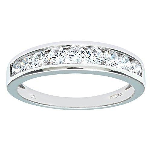 Citerna Damen-Verlobungsring 375 Weißgold Zirkonia 9 Karat Gr. 52 (16.6) DIV 125W(L)