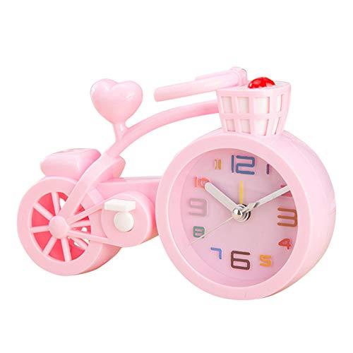 Leobtain Bonbonfarben Schaffen Tragbare Mini Stumm Kinder Student Uhr Fahrrad Schreibtisch Tisch Charming Wecker Geschenke Favor (Wwe-uhr)
