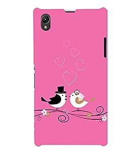 Fabcase Love of birds on pink case Designer Back Case Cover for Sony Xperia Z1 :: Sony Xperia Z1 L39h :: Sony Xperia Z1 C6902/L39h :: Sony Xperia Z1 C6903 :: Sony Xperia Z1 C6906 :: Sony Xperia Z1 C6943