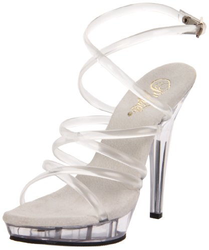 Pleaser Lip106/c/m, Damen Sandalen, Transparent (Clear), 41 EU (8 UK) Slingback Mini Platform Sandal
