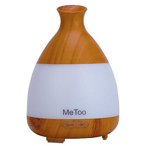 Me Too Aromatherapy Diffuser 120ml Ultraschall-Luftbefeuchter Cool Nebel ätherisches Öl Diffusor mit farbigem LED-Licht für Haus, Baby-Raum, SPA-Wood Grain
