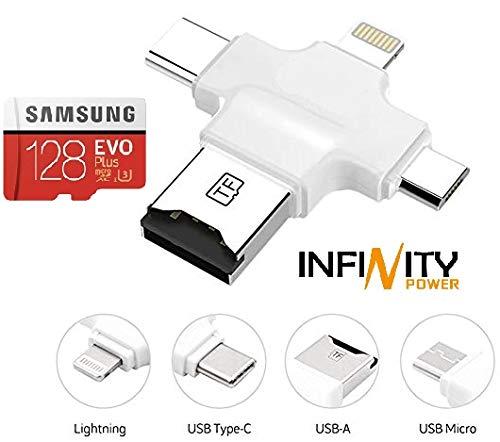 128GB Espansione memoria esterna per cellulare smartphone iPhone IOS e Android (Samsung, Huawei e altri) e PC OTG Flash Drive USB 3.0 cellulari