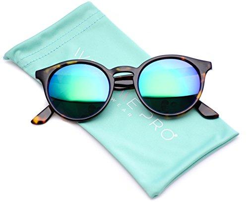WearMe Pro - Klassische Sonnenbrille kleine runde Gläser Retro-Look