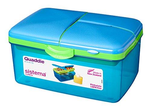 Sistema Frischhaltebox Quaddie, 2 L, Farblich sortiert