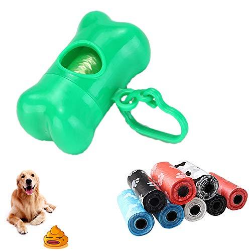 ALCBB Bolsas para Excrementos De Perro con Dispensador Y Clip para Correa (150 Bolsas),Green