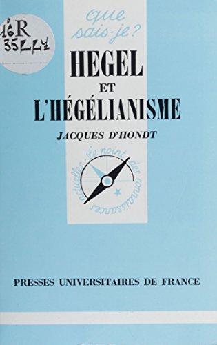Livres Hegel et l'hégélianisme pdf