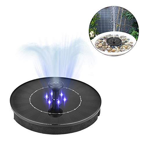 Raspbery - fontana a energia solare, 2,4 w, mini collettore solare a led, impermeabile, con pompa a immersione, per laghetti e fontane da giardino