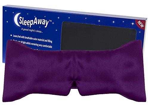 NO1# SLEEP SOLUTIONS SLEEPAWAY PURPLE WRAP AROUND SLEEP EYE MASK BEST SLEEP & DREAM REVIEWS BUY PRICE UK