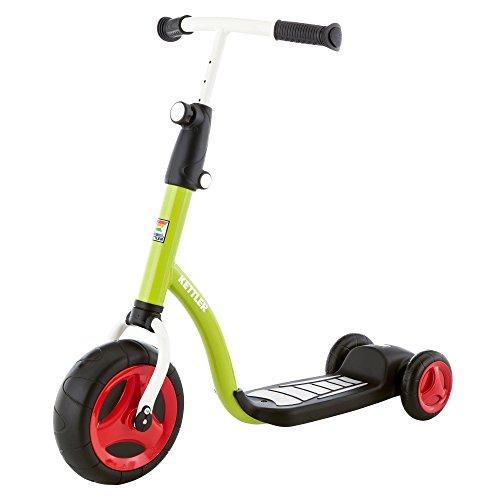 Kettler Kinderroller Kid\'s Scooter – cooler Kinder-Scooter – Kinderroller ab 2 Jahre mit höhenverstellbarem Lenker – Roller mit drei Rädern – grün