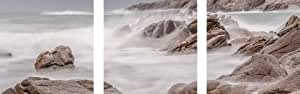 Eurographics AKT-DG-COU1202SET Deco Glass, Glasbild, 3-er Set, Troubled Waters, 30 x 30 cm