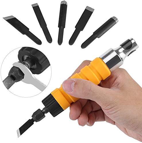 Elektrische Holzbearbeitung Carving Meißel Gravur Messer Werkzeug mit 5 Klingen und 1 Schraubenschlüssel