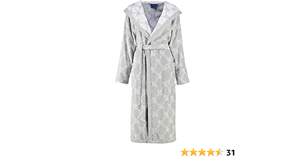 Bademantel Damen Kimono 1616 Classic Silber Joop 76 XS