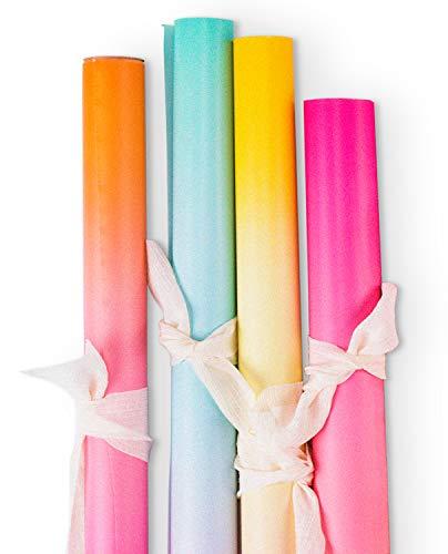 errolle - Farbverlauf Für Geburtstag, Hochzeit, Urlaub Baby Shower Geschenkpapier - 4 Rollen - 76Cm X 305Cm Pro Rolle ()