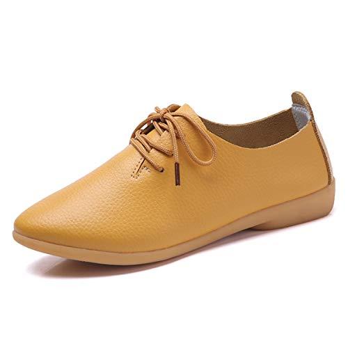 Decai Mocasines Cuero Piel Mujer Oxford Cordones Zapatos
