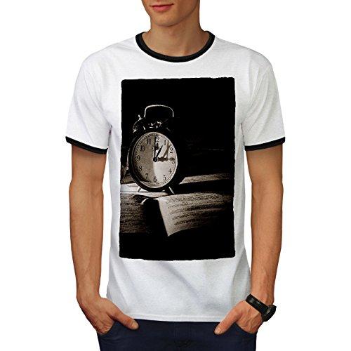 Retro Alt Foto Jahrgang Lesen Zeit Herren S Ringer T-shirt | Wellcoda (Zeit Garage T-shirt)