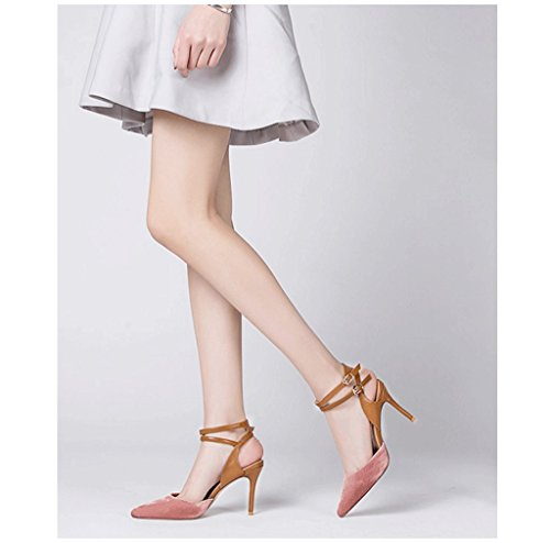 Primavera ed estate i pattini eleganti della punta della rugiada di rugiada calzano i pattini romani ( Colore : Rosa , dimensioni : 37 ) Rosa