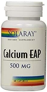 Solaray - Calcium EAP 500 mg - 60 Capsules
