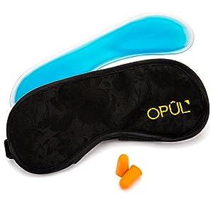 Schlafmaske Mit Augenkühler, Komfortabelste Augenmaske Beinhaltet Tragetasche Und Ohrstöpsel, Augenabdeckung, Schlafbrille, Nachtmaske, Augenschutz, Augenbinde Von Opul