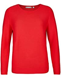98853397e7b39 Rabe - Pull - Pull - Manches Longues - Femme Rouge Zinnober