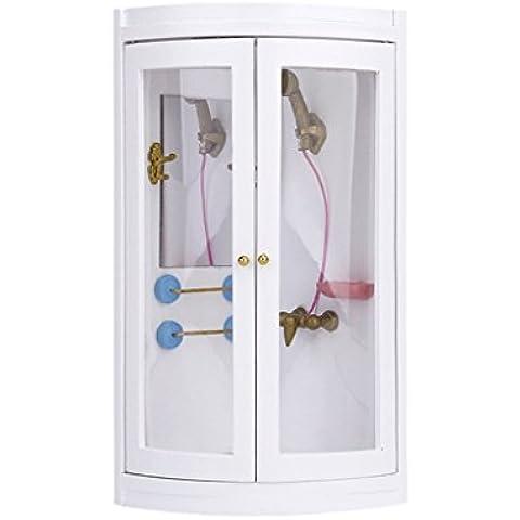 01:12 Miniatura Casa Delle Bambole Mobili Da Bagno W / Doccia Modello