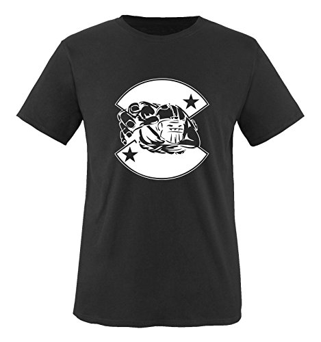 Comedy Shirts - American Football - Mädchen T-Shirt - Schwarz / Weiss Gr. 86-92